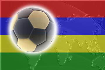 Flag of Mauritius soccer