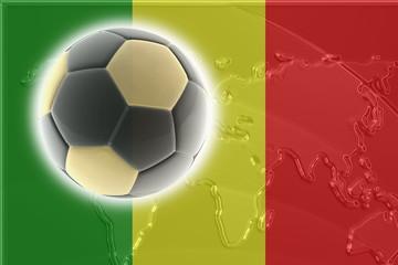 Flag of Mali soccer