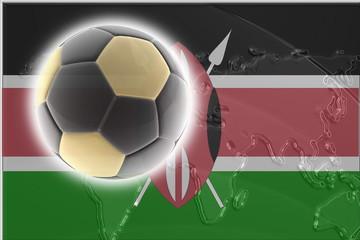 Flag of Kenya soccer
