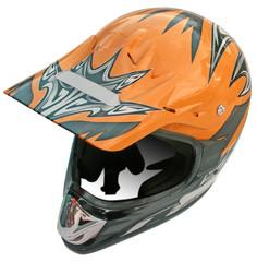 Papier Peint - casque visière motard fond blanc