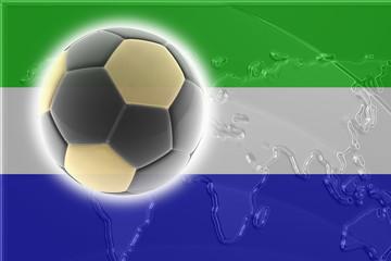 Flag of Sierra Leone soccer