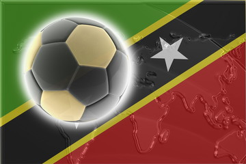 Flag of Saint Kitts and Nevis St. soccer