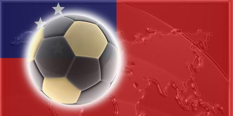 Flag of Samoa soccer