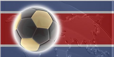 Flag of North Korea soccer