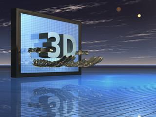 Illustration zum Thema 3D-Filme - Background - 3D