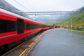 Railway station in Norway