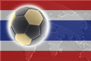 Flag of Thailand soccer
