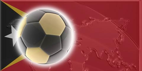 Flag of Timor-Leste soccer