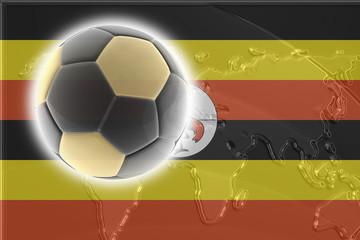 Flag of Uganda soccer