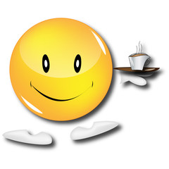 smiley serveur café
