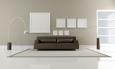 brown minimalist interior