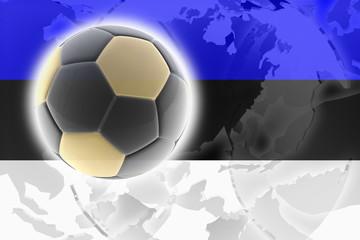 Flag of Estonia soccer