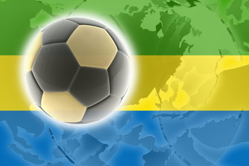 Flag of Gabon soccer
