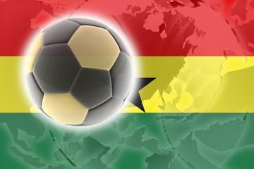 Flag of Ghana soccer