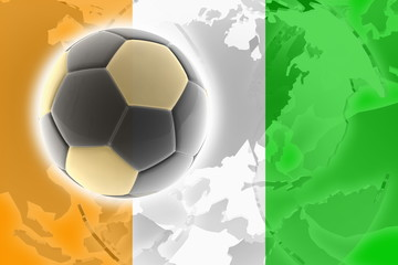 Flag of Ivory Coast soccer