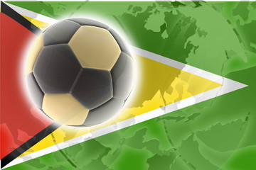 Flag of Guyana soccer