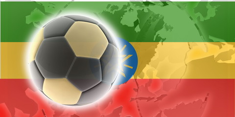 Flag of Ethiopia soccer