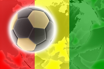 Flag of Guinea soccer