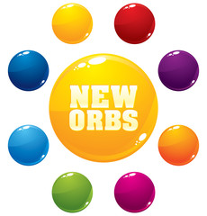 Vector multicolored orbs