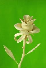 Handmade wooden rose flover