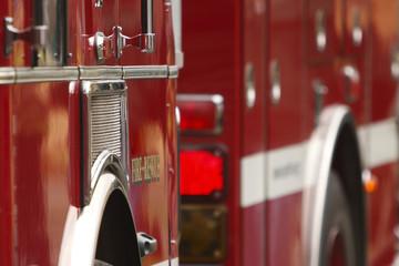 Fire truck on scene