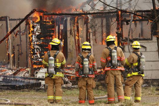 Firemen on scene