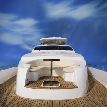 Yacht rear view