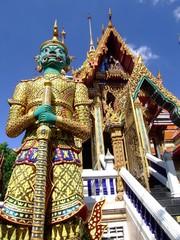 Buddhist temple in Bangkok, Thailand.