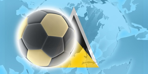 Flag of Saint Lucia soccer