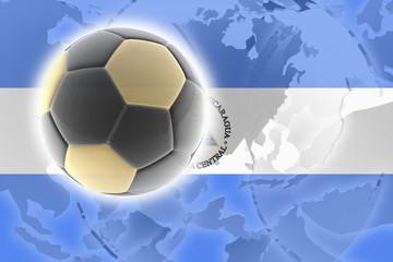 Flag of Nicaragua soccer