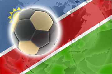 Flag of Namibia soccer
