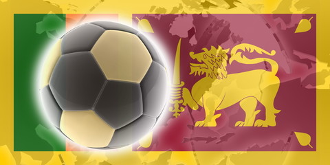 Flag of Sri Lanka soccer