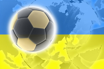 Flag of Ukraine soccer