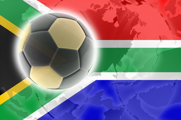 Flag of South Africa soccer