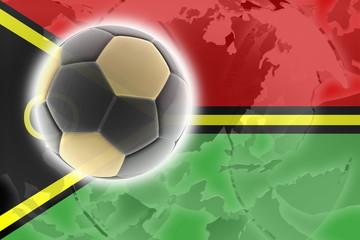 Flag of Vanuatu soccer