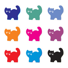Printed kitchen splashbacks Cats funny cats