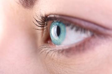 Beautiful blue eye close up