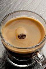 tazza di caffe' con chicco