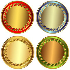 Set gold, silver and bronze awards (vector)