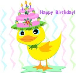 Happy Birthday Hat on a Duck