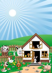 Animali Fattoria-Farm Animals-Animaux Ferme
