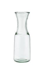 Open empty glass jug