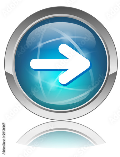 Vector Web Button With NEXT Symbol Arrow Navigation Page
