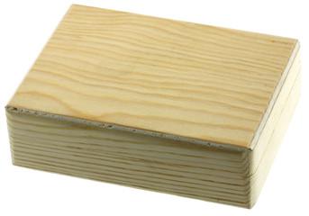 petite boîte bois fond blanc