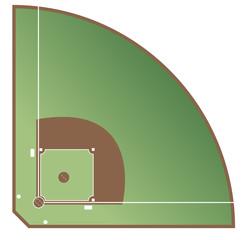 Baseball Spielfeld vektor