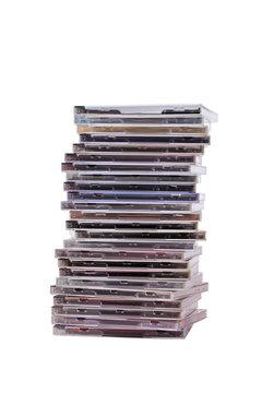 pile of cd