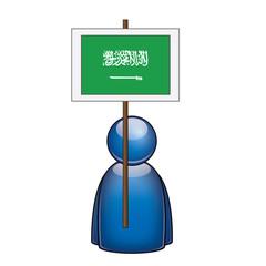 Pancarta Arabia Saudi