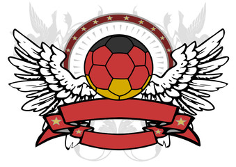 flying soccerball german