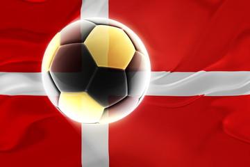 Flag of Denmark wavy soccer