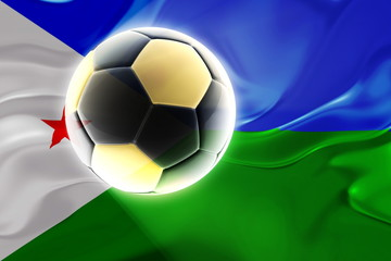 Flag of Djibouti wavy soccer